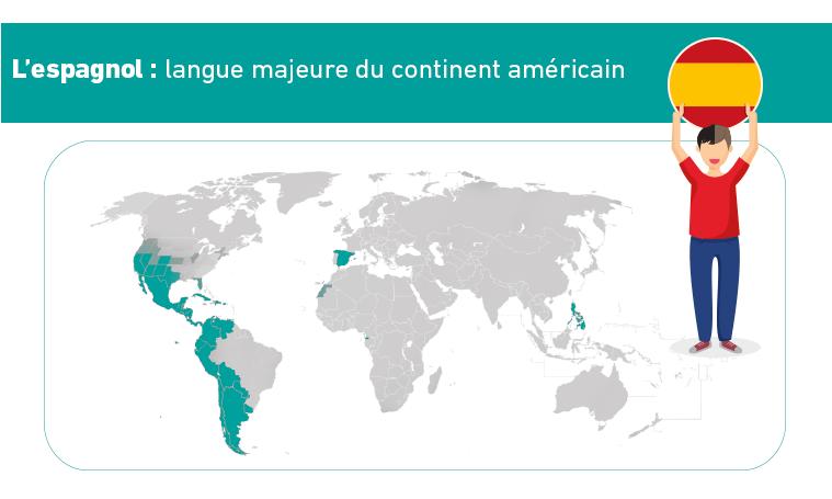 Carte de l'espagnol dans le monde