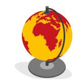 Image de globe terrestre